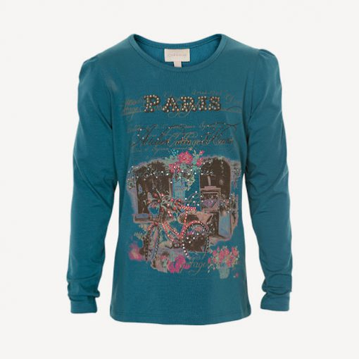 Creamie Nicole maroccan Blue shirt