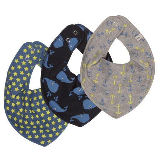 Pippi bib slab sjaal set blauw 3 pack