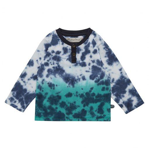 Minymo Ebbe dip dye shirt