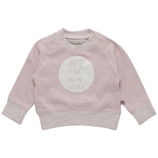 Minymo newborn baby Elif roze shirt