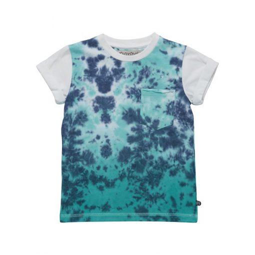 Minymo Evan jongens shirt dip dye