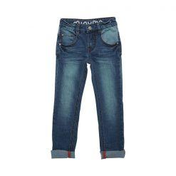 Een echte topper deze Minymo Evan jeans slim. Een trendy broek met verstelbaar elastiek in de taille. Verkrijgbaar in de maten 104 t/m 152.