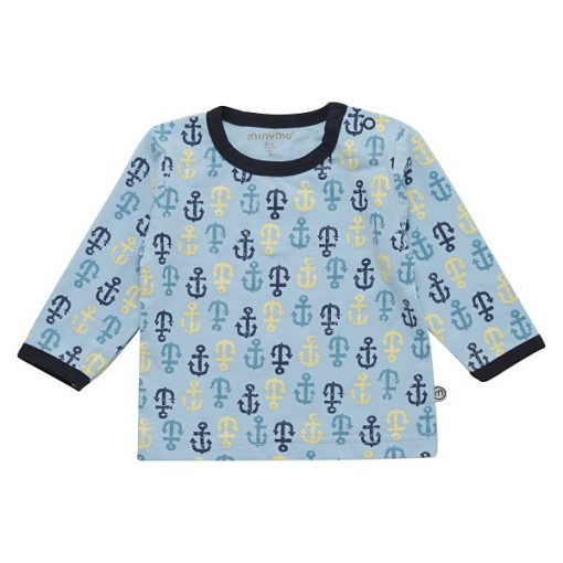 Minymo Fida anker shirt blauw
