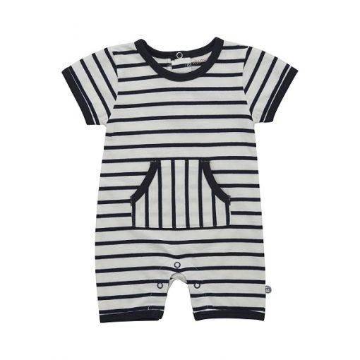 Minymo Fida newborn playsuit YD stripe Blue