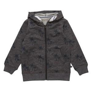 Minymo – jongens vest – met palmen – grijs - Eileen4Kids