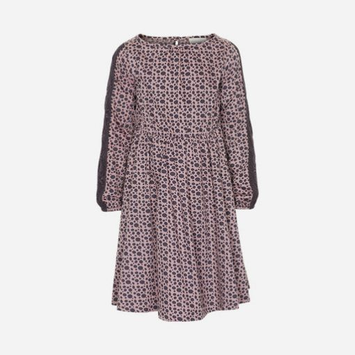 Creamie - jurk - lange mouwen - mauve