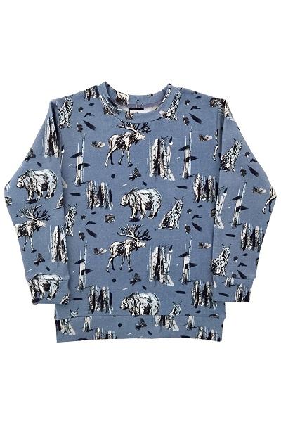 Hebe sweater multi blauw met dieren