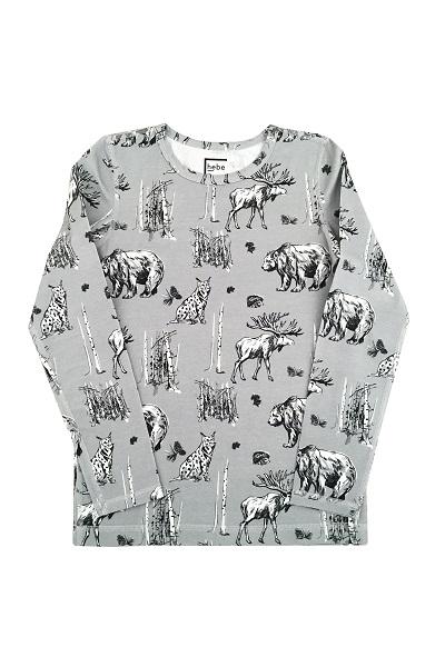 Hebe sweater multi grey met dieren
