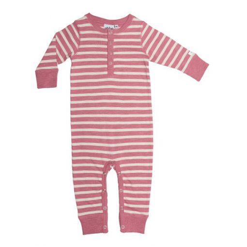Ebbe Amore bodysuit dusty pink offwhite stripe