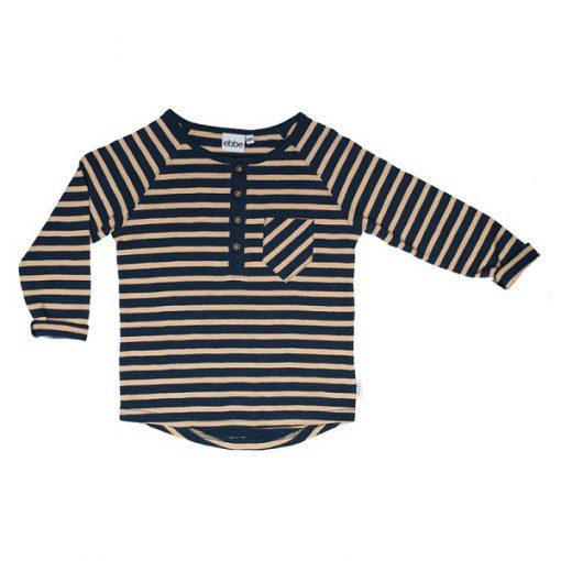 Ebbe Alex winter navy sand stripe shirt