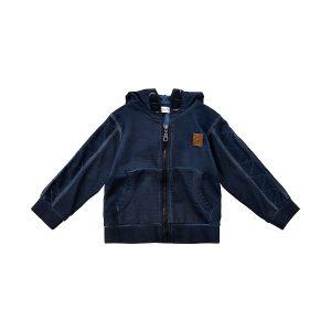 Minymo – jongens vest – blauw - Eileen4Kids