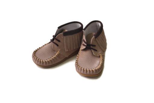 Bardossa - kinderschoen - Kimba Serraje taupe moka - bruin - Eileen4Kids