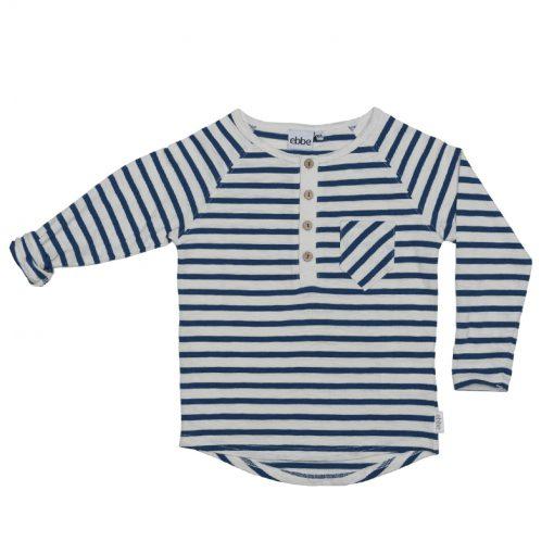Ebbe Donald Offwhite Seaside blue stripe shirt