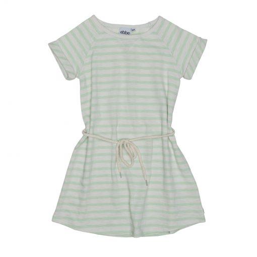 Ebbe - jurk - gestreept - offwhite ever green - Eileen4Kids