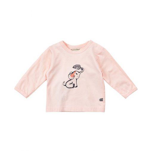 Minymo meisjes shirt -ange mouwen roze - Eileen4Kids