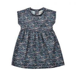 Minymo - jurk - korte mouwen - model Julia - grijs
