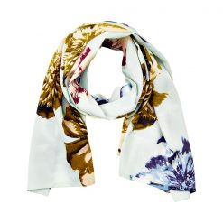 Creamie Heather scarf smoked green