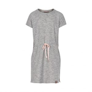 Creamie Heba sweat dress light grey melange