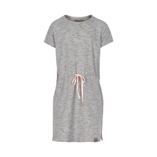 Creamie Heba sweat dress light grey melange