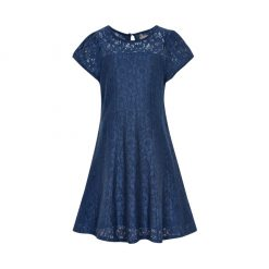 Creamie kanten jurk Helena midnight blue
