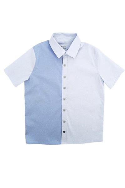 Hebe - overhemd - korte mouwen - blauw