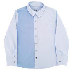 Hebe - overhemd - lange mouwen - blauw