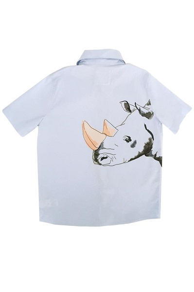 Hebe overhemd met korte mouwen