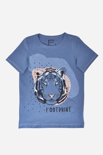 Hebe shirt blauw met tijger