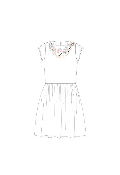 Hebe jurk met korte mouwen wit