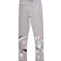 Hebe – legging – footprint – grijs - Eileen4Kids