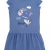 Hebe jurk blauw met multicolor print