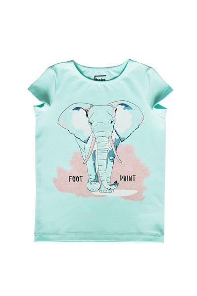 Hebe - meisjes t-shirt - olifant - mint groen