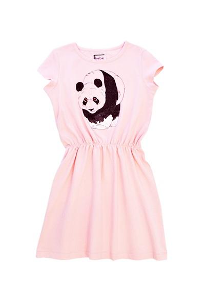 Hebe jurk roze met panda