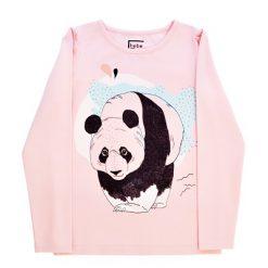 Hebe - meisjes shirt lange mouwen - panda -roze
