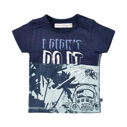Minymo - jongens t-shirt - blauw