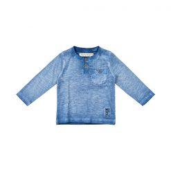 Minymo Kato shirt blauw met lange mouwen
