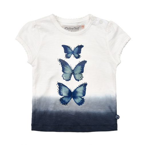 Minymo meisjes t-shirt vlinder - Eileen4Kids
