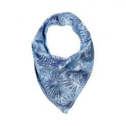 Minymo Kim scarf bib celestial blue