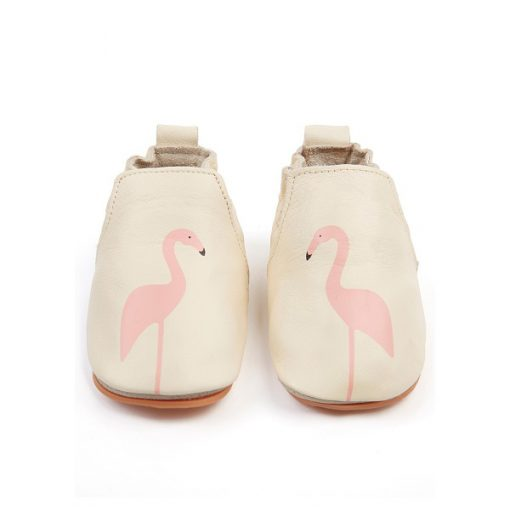 Boumy babyschoentje Rio flamingo cream