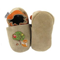 Hobea babyslofjes forest animals taupe