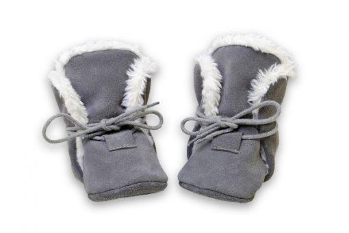 Hobea - winter - babysloffen - grijs