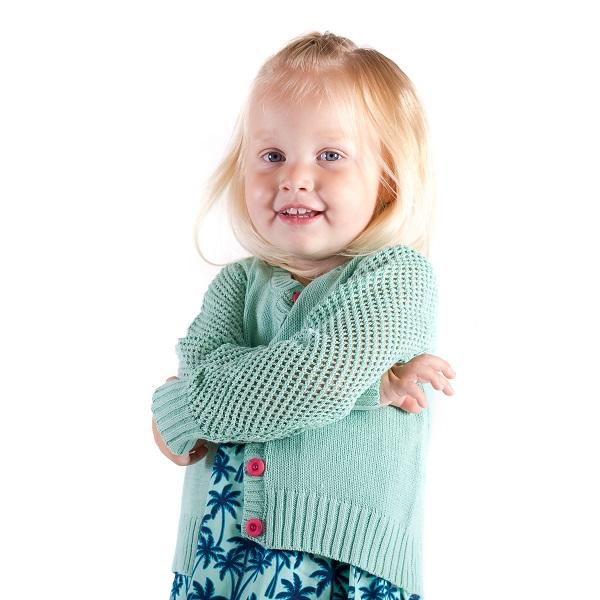 Minymo – meisjes vest – grof gebreid – mint groen - Eileen4Kids