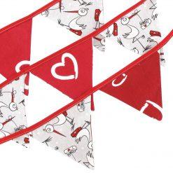 Hobea - Vlaggenlijn - katoen - ooievaar - rood