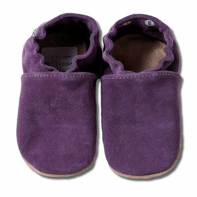Hobea babyslofjes suede paars - Eileen4Kids