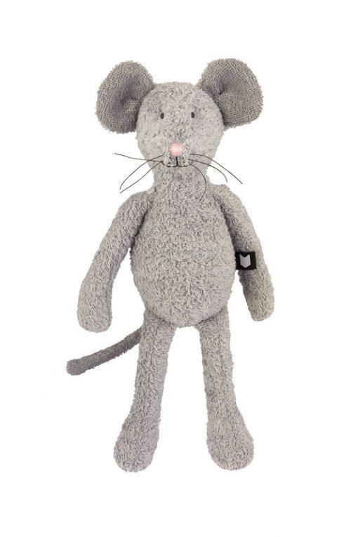 Hebe - knuffel - muis - grijs