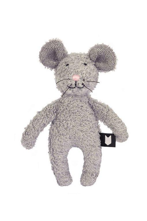 Hebe knuffeldier grijze muis