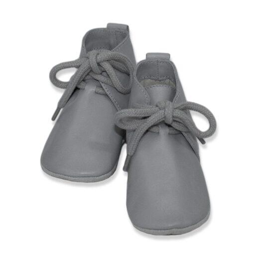Baby Dutch - babyslofje hoog grijs