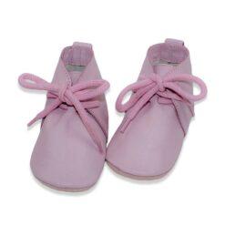 Baby Dutch - hoge babyslofjes - roze