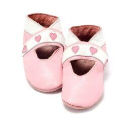 Baby Dutch - babyslofjes - open - hartjes - roze