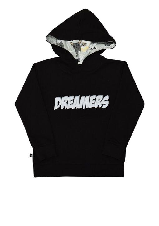 Hebe - hoodie - dreamers - zwart - Eileen4Kids